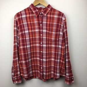 Lucky Brand | long sleeve plaid button-up shirt